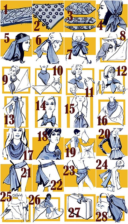 28 ways to wear a scarf. How do you wear yours?