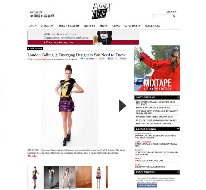 FashionIndie.com 27th November 2012
